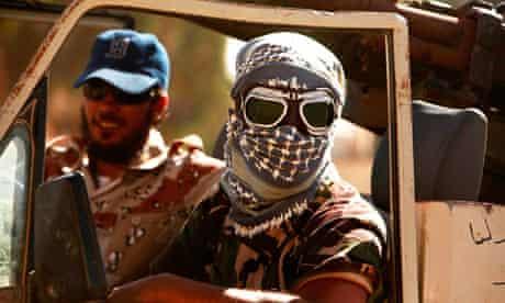 Anti-Gaddafi fighters in Herawa