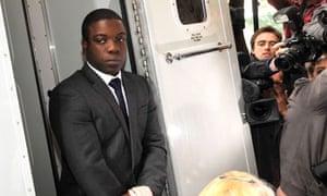 Kweku Adoboli arriving at court on Thursday