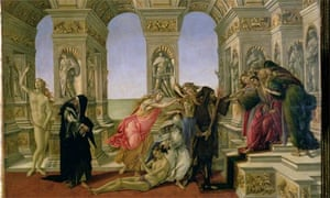 Calumny of Apelles by Sandro Botticelli