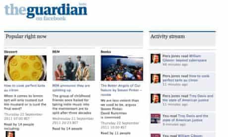 The Guardian's Facebook app