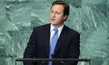 David Cameron at the United Nations assembly