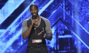 Terrell Carter performs on the X Factor