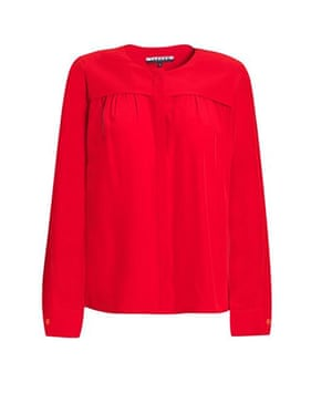 Top 10 blouses: Jaeger red