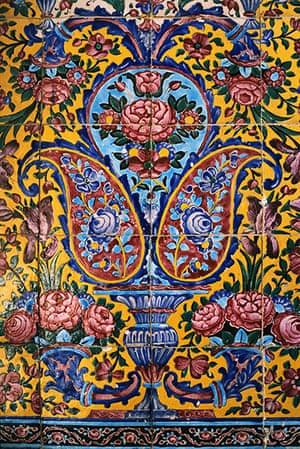 Paisley gallery: Floral Tilework at the Masjid-e Nasir-ol-Molk