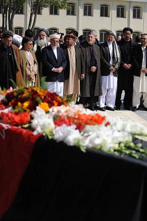 Rabbani funeral: Afghan President Hamid Karzai