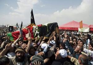 Rabbani funeral: burial ceremony on Wazir Akbar Khan hill in Kabul