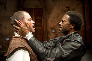 Theatre: Dominic West (Iago) and Clarke Peters (Othello) in Othello