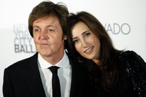Theatre: Paul McCartney and his fiancee, Nancy Shevell