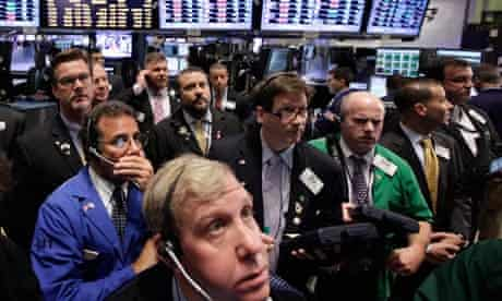 Traders New York global financial crisis
