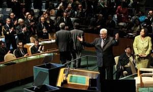Mahmoud Abbas makes UN speech