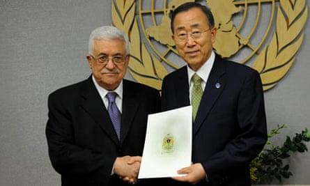 Mahmoud Abbas and Ban Ki-moon