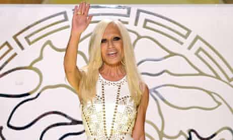 Donatella Versace milan fashion week