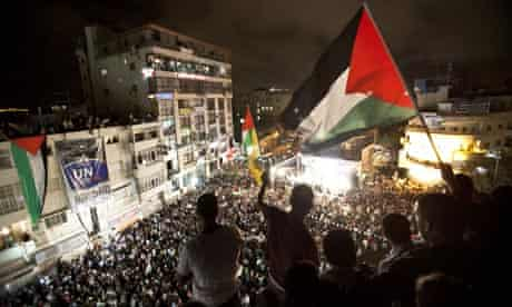 Mahmoud Abbas's speech is broadcast in Ramallah