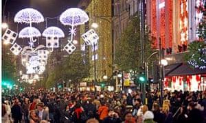 Christmas Lights turned on in Oxford Street, London, Britain - 03 Nov 2009
