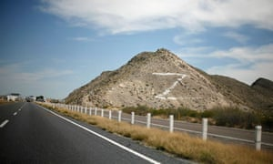 The letter Z painted on a hill near the Monterrey-Torreon freeway, referring to the Zetas