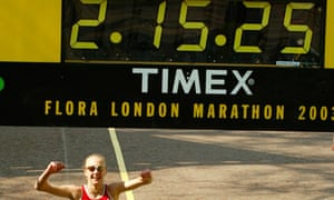Paula Radcliffe london marathon