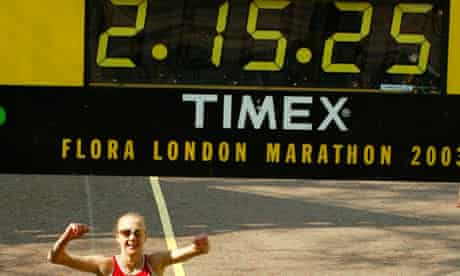 Paula Radcliffe london marathon