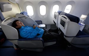 boeing 787 dreamliner: inside the second Boeing  787 to be delivered to All Nippon Airways (ANA)