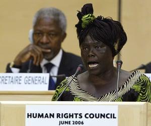 Wangari Maathai: Human Rights Council in Geneva