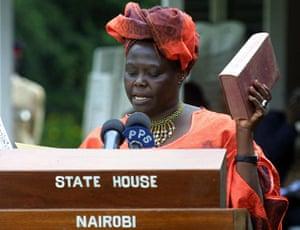 Wangari Maathai: Kenyan government minister Wangari Maathai