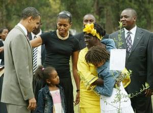Wangari Maathai: US Senator Barack Obama