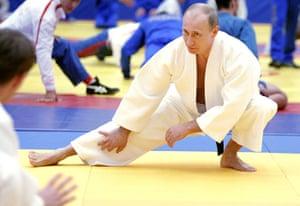 Vladimir Putin Gallery: 2010. St.Petersburg, Russia: Prime Minister Vladimir Putin in judo training
