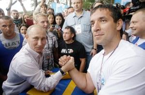 Vladimir Putin Gallery: Russian Prime Minister Vladimir Putin (L