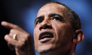 Barack Obama speaking to the Congressional Black Caucus Foundation in Washington