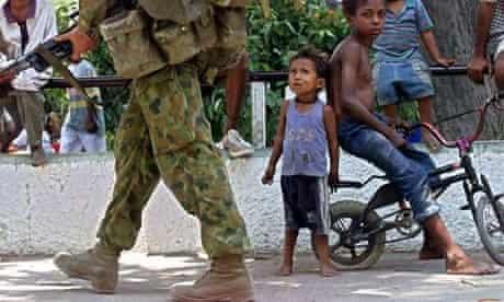 An Australian soldier in East Timor