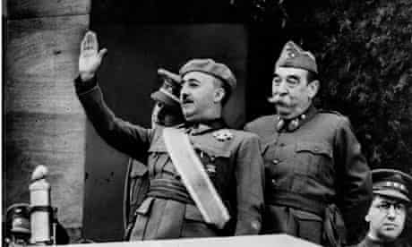 Franco salutes his troops at the end of the civil war, 1939