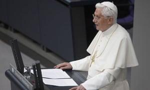Pope Benedict XVI addresses the German Bundestag