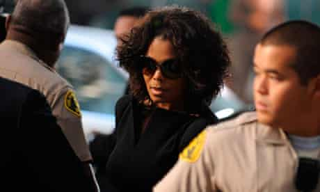 Michael Jackson's sister Janet arrives at court in Los Angeles