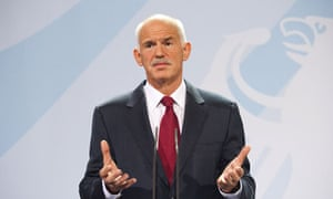 George Papandreou at the debt crisis meeting in Berlin
