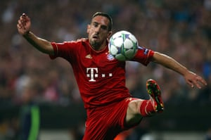 Champions League Tuesday: Bayern Munich's Franck Ribery controls the ball