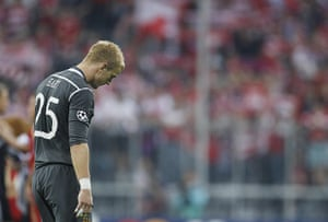 Champions League Tuesday: A dejected Joe Hart at the end of Manchester City's 2-0 defeat to Bayern