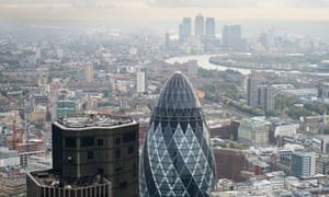 city of london, gherkin, canary wharf