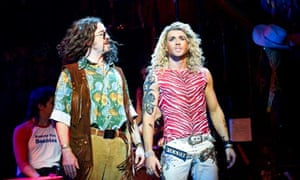 Justin Lee Collins and Shayne Ward in Rock of Ages
