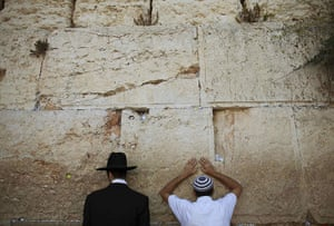 24 hours in pictures: Jewish worshippers pray at the Western Wall in Jerusalem's Old City
