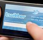An iPhone showing the Twitter app