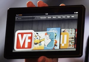 Kindle Fire: The Kindle Fire is shown at a news conference will go on sale for $199