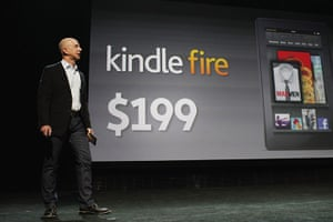 Kindle Fire: Bezos introduces a new tablet called the Kindle Fire