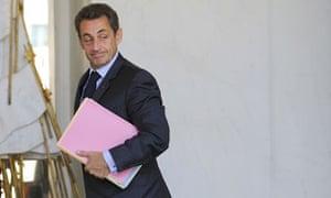 Nicolas Sarkozy at the Élysée palace