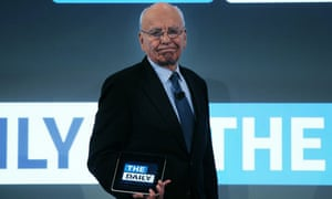 Rupert Murdoch and his Daily in February