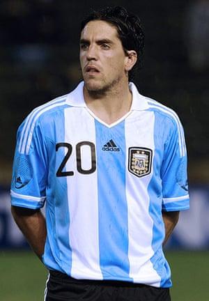 Players in Fifa 12: Argentina's forward Gabriel Hauche