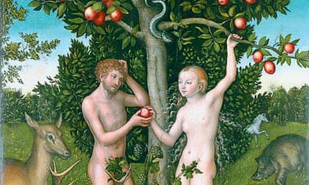 Detail from Adam and Eve by Lucas Cranach