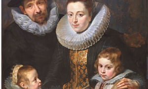 Detail from Rubens portrait of Jan Brueghel and family