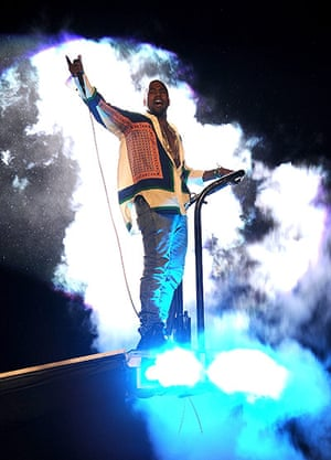 Kanye West: Kanye West performs at the Coachella Music Festival