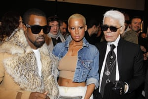 Kanye West: Kanye West, Amber Rose and Karl Lagerfeld