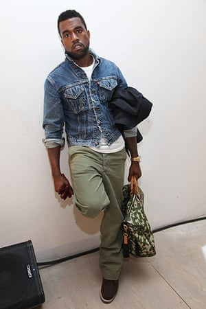 Kanye West: Kanye West attends a presentation of the Band Of Outsiders