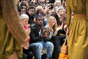 Kanye West: Kanye West and Sienna Miller at the Burberry Prorsum show